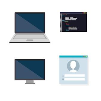 Ícones configurados de idiomas de programação