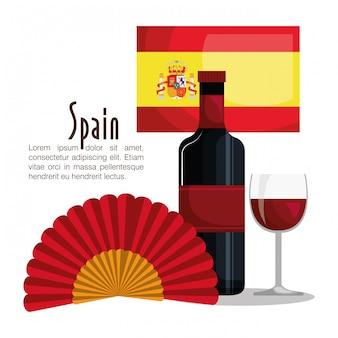 Ícones da cultura espanhola isolado ícone do design