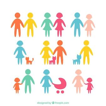 Ícones da família colorido