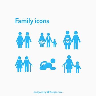 Ícones da família definido