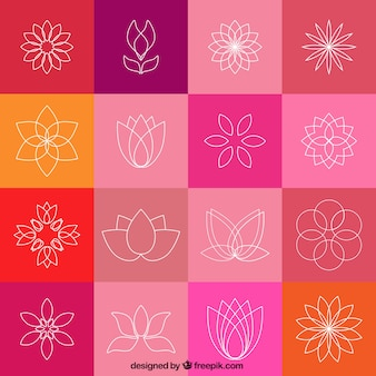 Ícones da flor de lótus