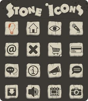 Ícones da interface do usuário da web para design da interface do usuário
