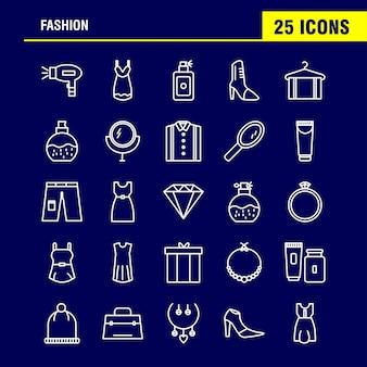 Ícones da linha de moda