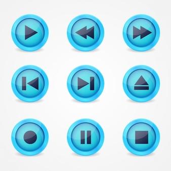 Ícones da reprodutor de música