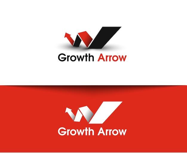 Ícones da web da seta de crescimento e logotipo de vetor
