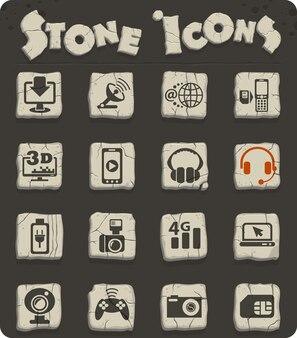 Ícones da web de alta tecnologia para design de interface do usuário