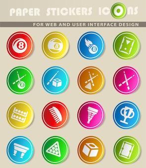 Ícones da web de bilhar para design de interface do usuário
