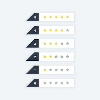 Ícones da web de classificação de estrelas limpas