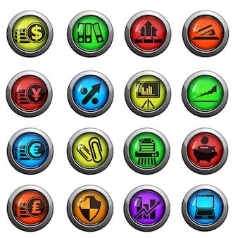 Ícones da web de negócios e finanças. simplesmente símbolo para ícones da web