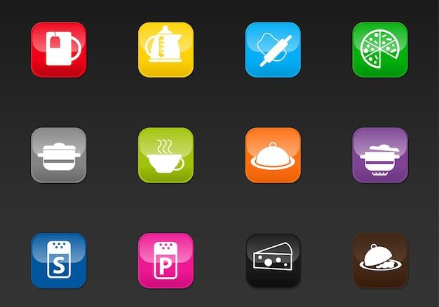 Ícones da web profissionais de cozinha para seu projeto