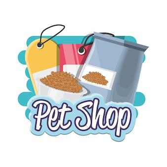 Ícones de acessórios de loja de animais Vetor Premium