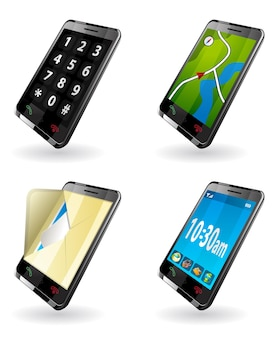 Ícones de aplicativos de smartphone