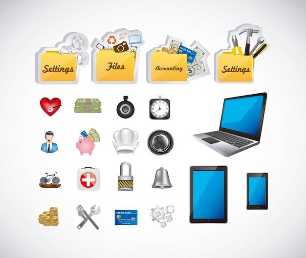 Ícones de aplicativos