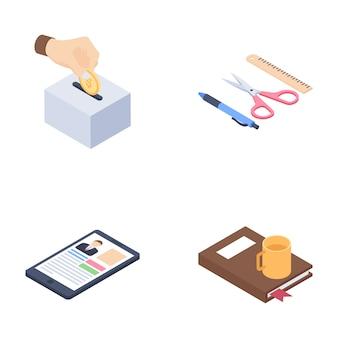 Ícones de aprendizagem e educação