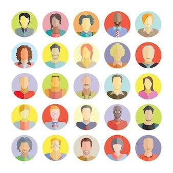 Ícones de avatar de pessoas e usuários