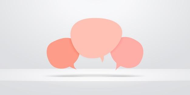 Ícones de balões de fala isolados em cinza