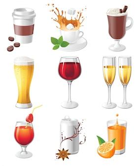 Ícones de bebidas
