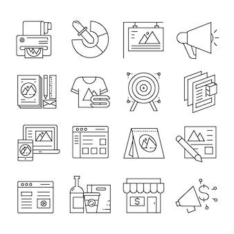 Ícones de branding e publicidade