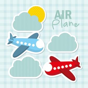 Ícones de brinquedos sobre ilustração em vetor fundo padrão