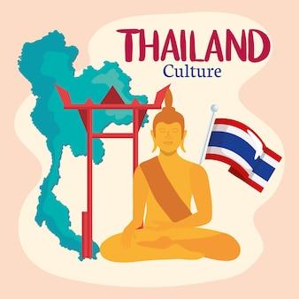Ícones de buda e tailândia