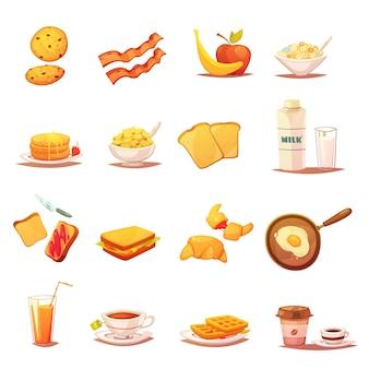 Ícones de café da manhã clássico