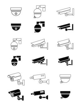 Ícones de câmera de segurança