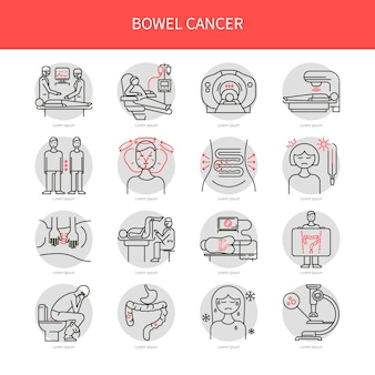Ícones de câncer de intestino