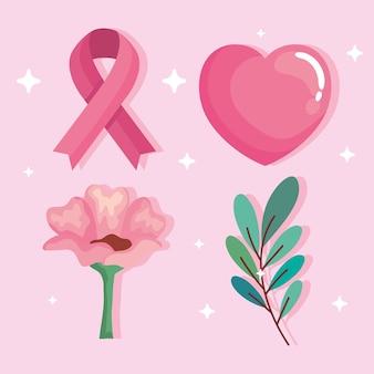 Ícones de câncer de mama