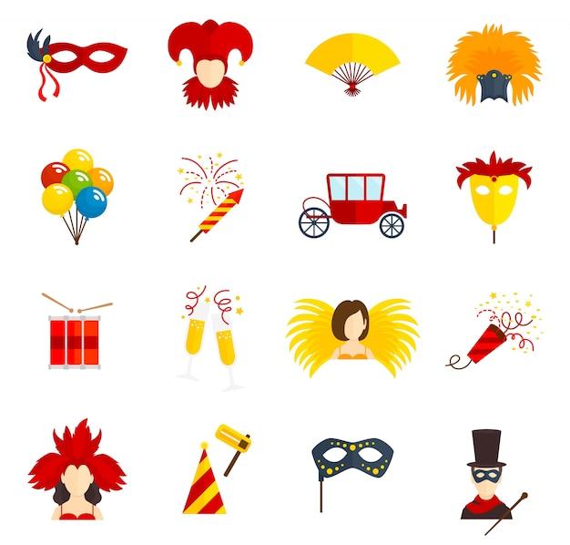 Ícones de carnaval definidos