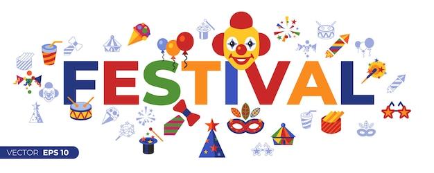Ícones de carnaval e circo