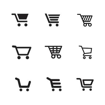 Ícones de carrinho de compras