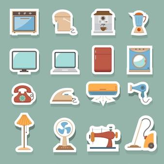 Ícones de casa eletrônicos