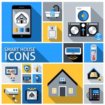 Ícones de casa inteligente