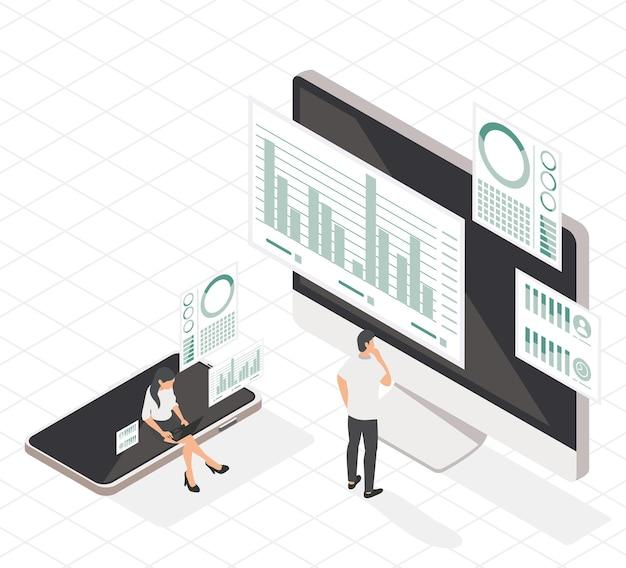 Ícones de casal e analíticos