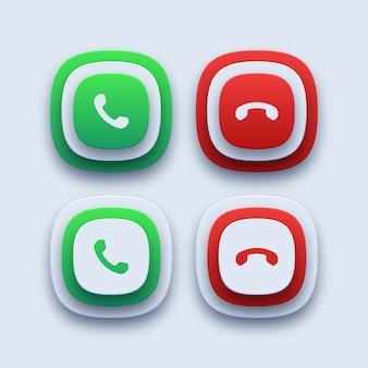 Ícones de chamada telefônica