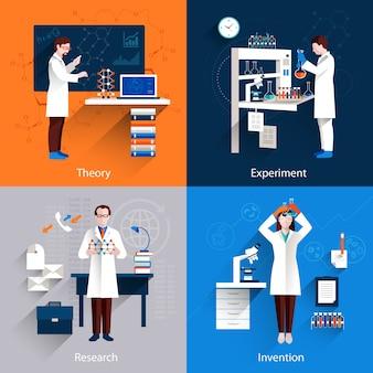 Ícones de ciência set