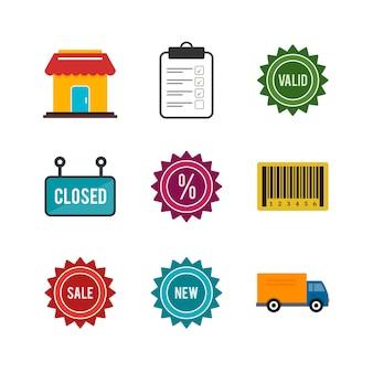 Ícones de comércio eletrônico para uso pessoal e comercial