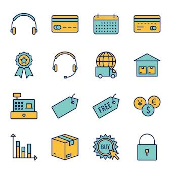 Ícones de comércio eletrônico
