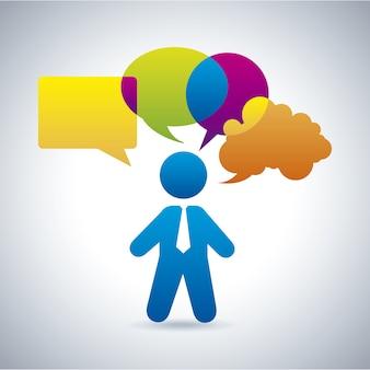 Ícones de comunicação de bolhas