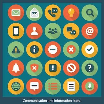 Ícones de comunicação e informação