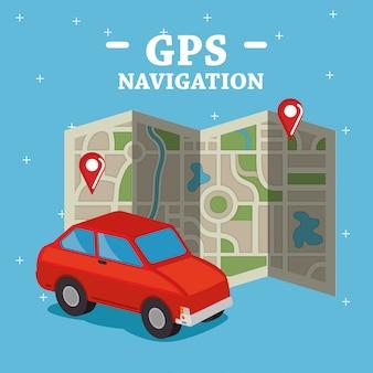 Ícones de conjunto de navegação gps