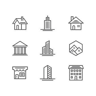 Ícones de construção e imobiliário