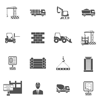 Ícones de construção planas