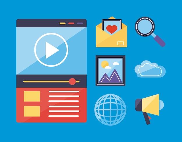 Ícones de conteúdo multimídia