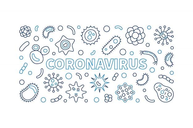Ícones de contorno de coronavírus