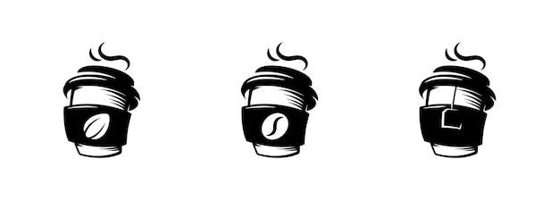 Ícones de copo de papel de café