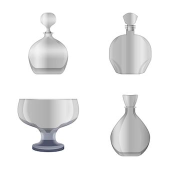 Ícones de copos e garrafas