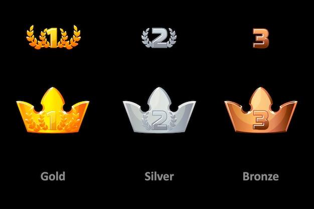 Ícones de coroa de prêmios