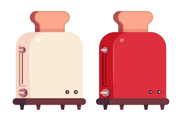 Ícones de desenho de torradeiras