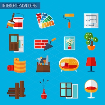 Ícones de design de interiores